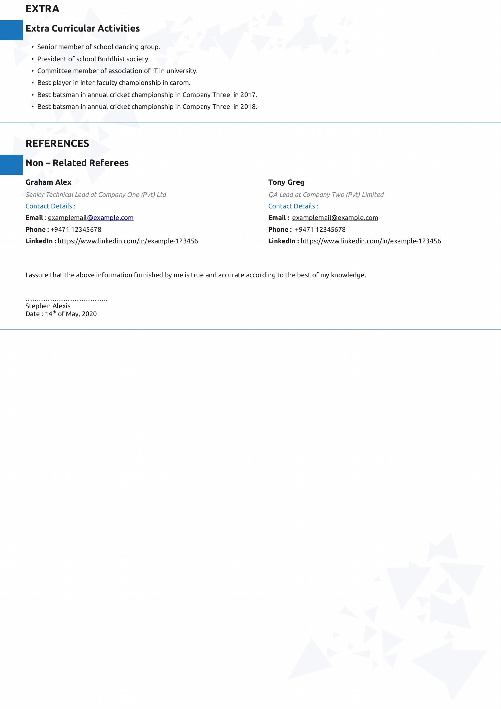 free download libreoffice writer resume  cv  templates style - 01